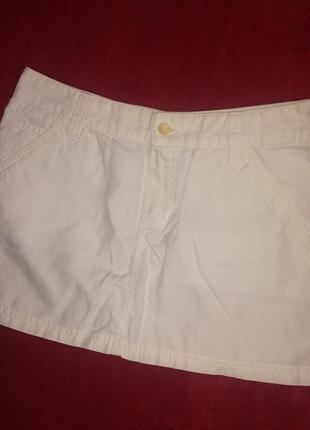 Юбка мини,белая юбочка