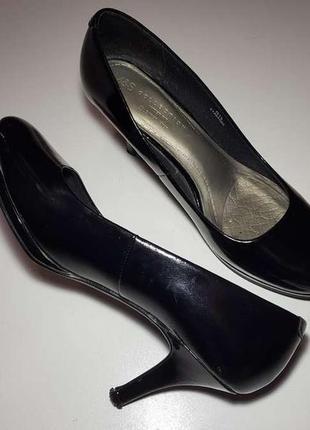 Туфли marks&spencer collection wide fit, кожаные,  25,5 см. в хорошем сост.