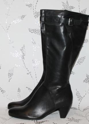 Комфортные кожаные сапоги ecco 41 размер 27 см стелька