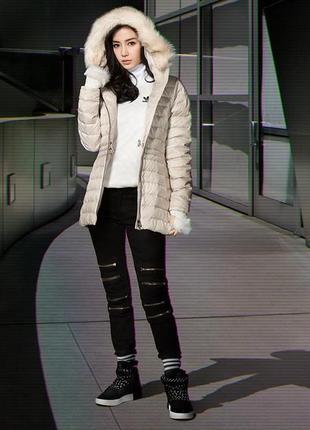Пуховик куртка adidas originals slim ce2357-оригинал.