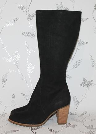 Стильные кожаные сапоги ecco 40 размер 26 см стелька
