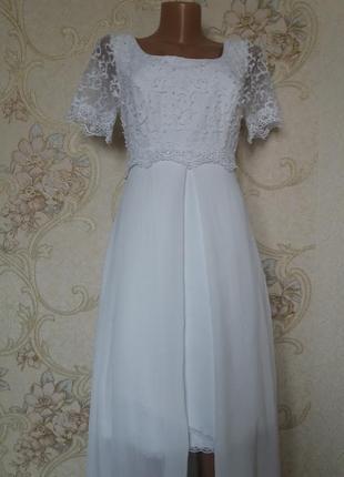 Свадебное /вечернее кружевное платье zara
