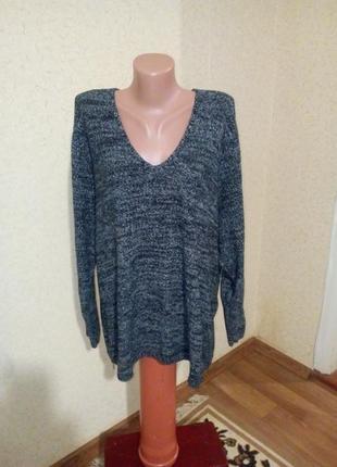 Стильный свитерок туника оверсайз пог 68