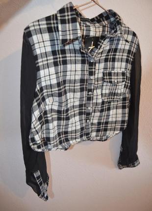 Классная укороченная рубашка atmosphere с шифоновыми рукавами