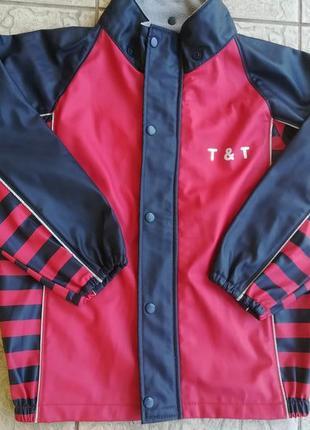 Куртка дождевик на флисе 116-128р