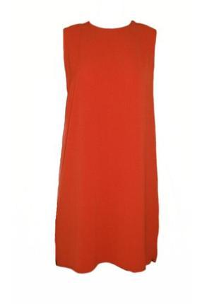 Платье туника свободного прямого кроя асимметрия