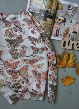 Актуальная толстовка свитшот в бабочках №74