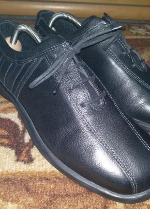 Кожаные туфли ecco оригинал 25 см