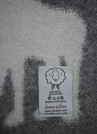 Крутое шерстяное одеяло lana & lino  оригинал3 фото