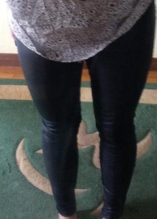 Штаны по кожу topshop