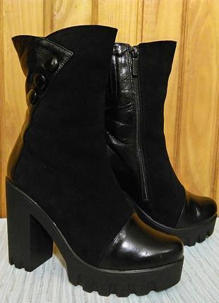 Модные зимние ботинки на овчине design italy