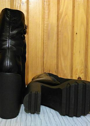 Цена снижена замшевые зимние ботинки на овчине design italy3