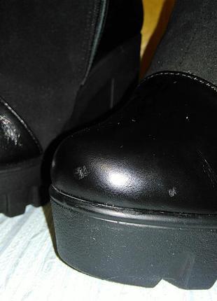 Цена снижена замшевые зимние ботинки на овчине design italy5