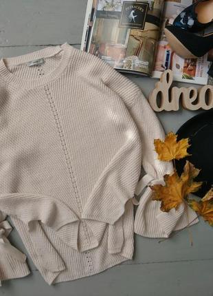 Актуальный свитер джемпер завязками на рукавах №71