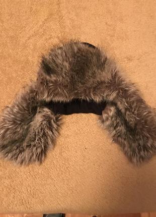 Шапка-ушанка детская зимняя
