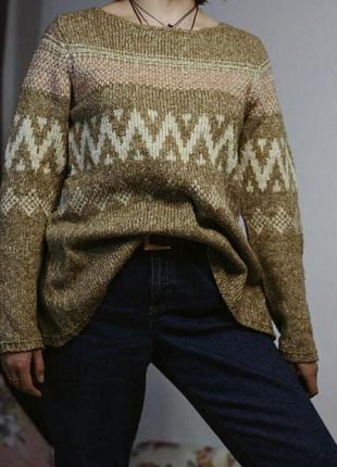 Теплый свитер zara knit