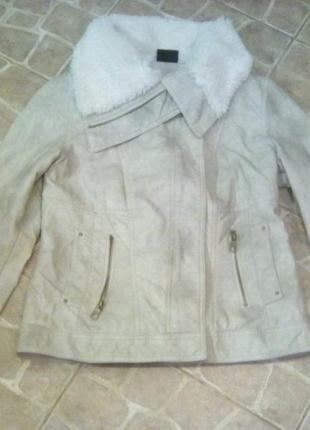 Куртка косуха,пилот с актуальным меховым воротником