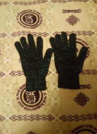 Перчатки с люрексом