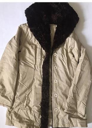 Куртка плюшевая парка искусственный мех  чебурашка теди