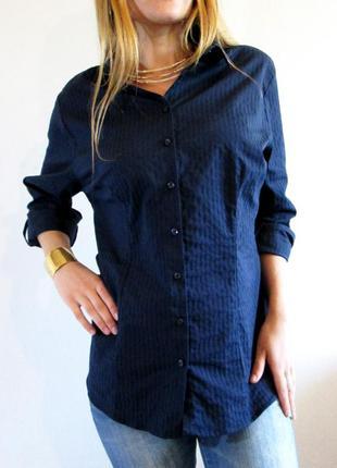 Charles voegele!! классическая синяя рубашка большого размера
