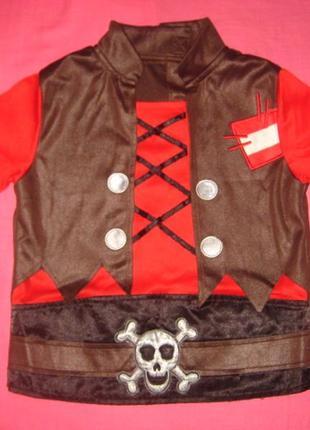 Новогодняя кофточка пирата от m&s на 3-4 года