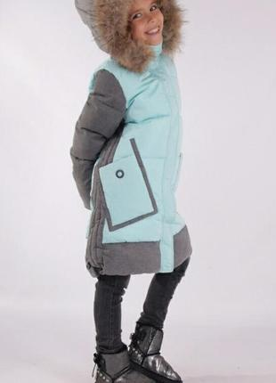 Зимнее красивое и теплое пальто для девочки anernuo 17196