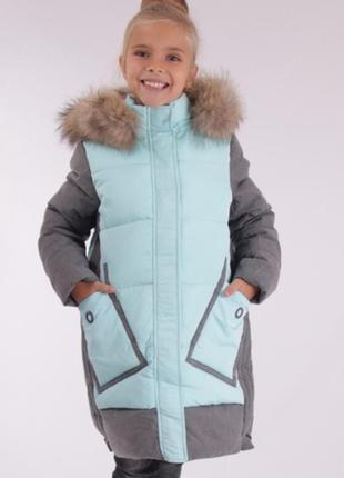 Зимнее пальто для девочки anernuo 171963