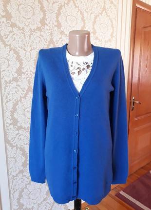 Фирменный шерстяной кардиган свитер джемпер кофта
