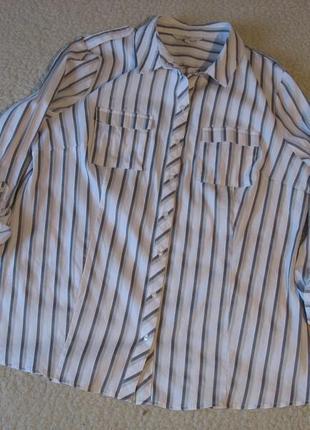 Рубашка в полоску next, большой размер