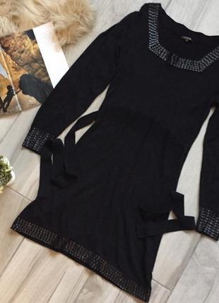 Тёплое чёрное платье yuka paris