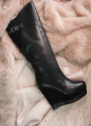 Распродажа сапоги braska натур.кожа, замша платформа р. 35-40