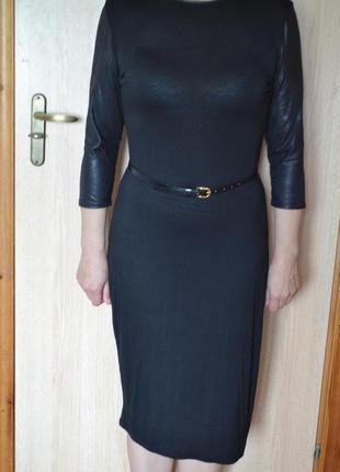 Черное платье (трикотаж вискоза/еластан)