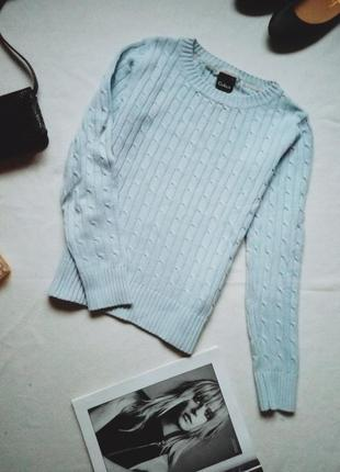 Нежно-голубой свитер cubus