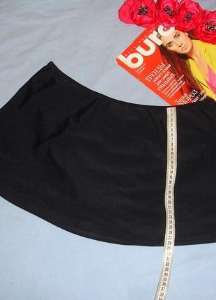 Низ от купальника раздельного трусики женские плавки размер 48 / 14 черные с юбкой новые