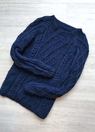 Вязаный свитер тёплый объёмный ручная работа