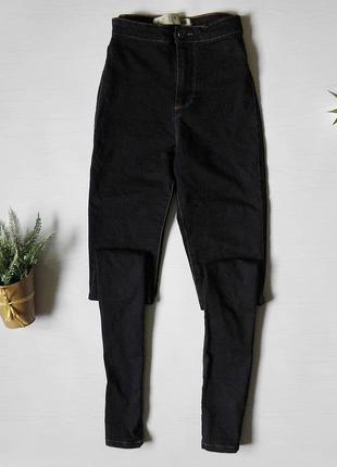 Темно-синие скини от denim co. skinny джинсы на высокой посадке скинни