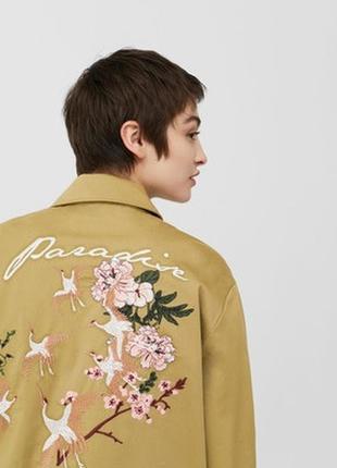 Куртка с вышивкой mango, l