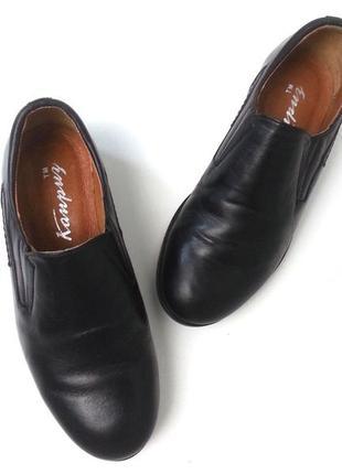 Кожаные школьные туфли для мальчика, в школу, классика, классические туфельки лоферы