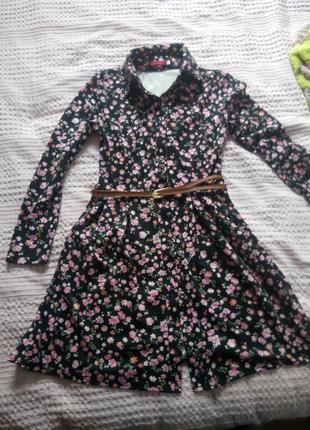 Супер платье в цветочек classic