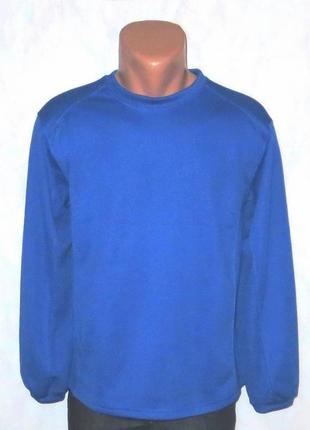 Синий мужской джемпер с флисом от badger размер: 48-s, m