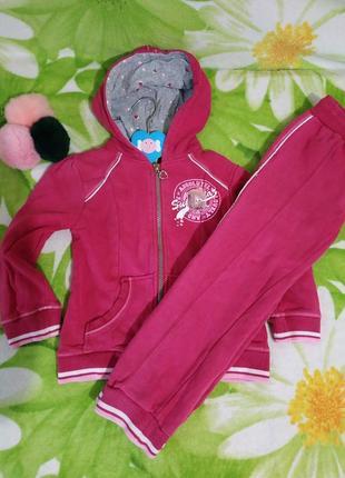 Теплый спортивный костюм chicco на возраст 5 лет ромт 110 см.