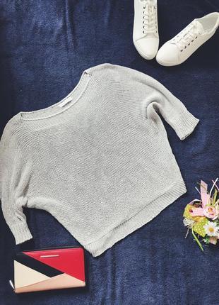 Красивый серый акриловый свитер италия
