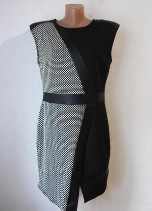 Стрейчевое платье с ассиметричным низом