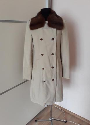 1+1=3 брендовое пальто миди с воротником