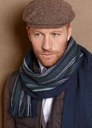 Двухсторонний шерстяной шарф 180х25 см от тсм tchibo германия