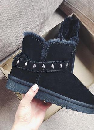 Угги-ботиночки черные