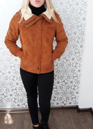 Стильная куртка-пилот на холодную осень от house ® pilot размер: xs