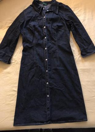Джинсовое платье халат