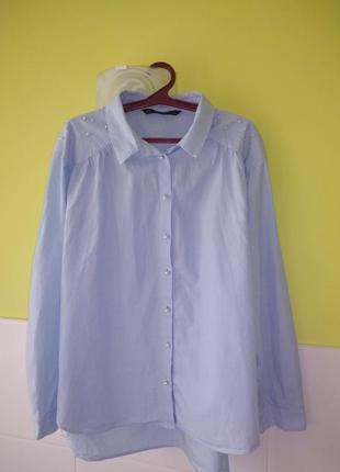 Красивая рубашка с жемчугом от zara