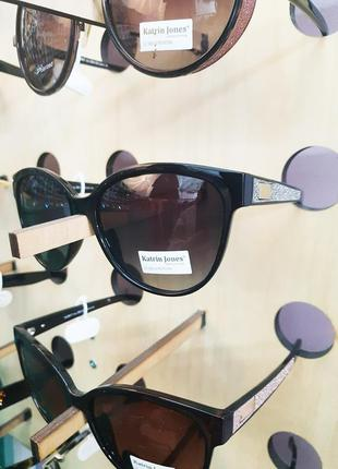 Фирменные солнцезащитные очки katrin jones polarized с глиттером